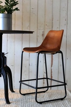 Tan Leather Dining Chairs With Arms