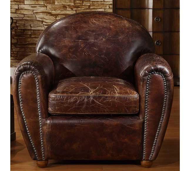 Awe Inspiring Leather Cigar Chair Ideas On Foter Download Free Architecture Designs Estepponolmadebymaigaardcom