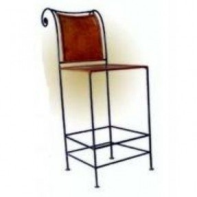 Leather and iron bar stools 1
