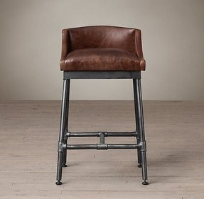 Leather Iron Bar Stools Foter