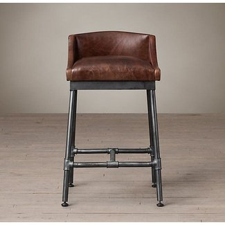Excellent Leather Iron Bar Stools Ideas On Foter Creativecarmelina Interior Chair Design Creativecarmelinacom
