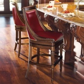 Leather top grain bar stools 18