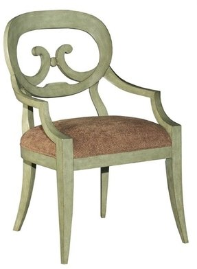 New Dining Arm Chair Antique White Painted Finish Hardwood So