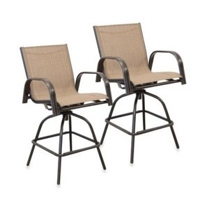 Outdoor sling bar stools 1