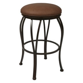 Pastel 30 in magnolia round swivel bar stool autumn rust