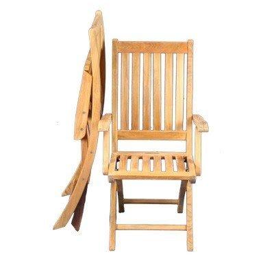 Regency Teak Sausalito Folding Arm Chair Set Of 2