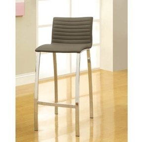 Ribbed stools set of 2 taupe bar stool coaster home