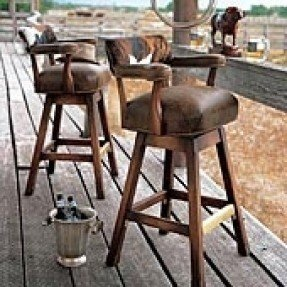 Excellent Leather Rustic Bar Stools Ideas On Foter Pdpeps Interior Chair Design Pdpepsorg