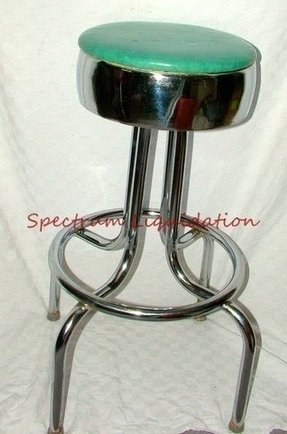 Retro Chrome Swivel Bar Stools Foter