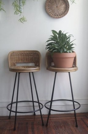 Wicker Swivel Bar Stools Foter