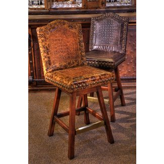 Western saddle bar stools