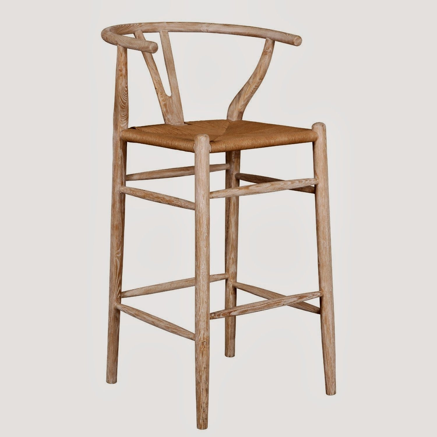 Wishbone Bar Stool  These bar stools in beautiful ash wood with ...