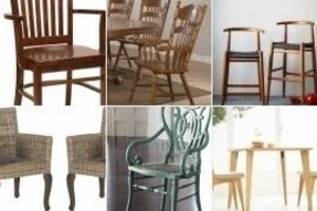 Wooden kitchen chairs with arms