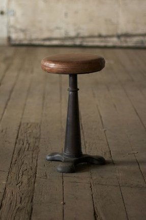 Woven leather bar stools