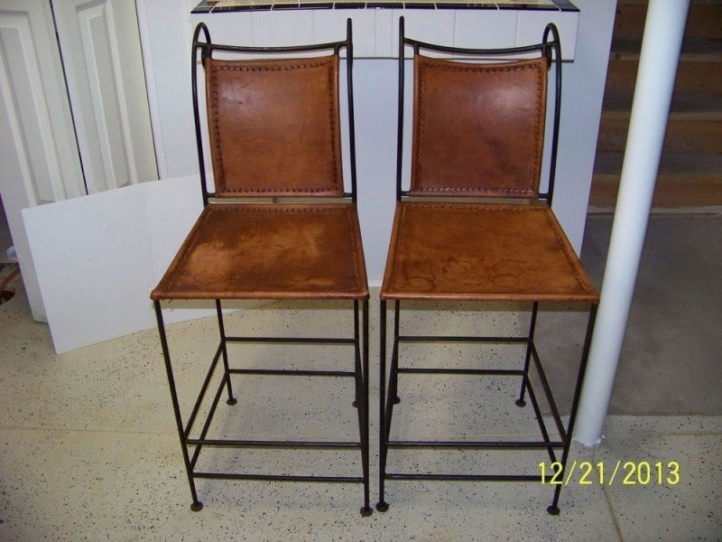 Wrought Iron Leather Bar Stools Ideas On Foter