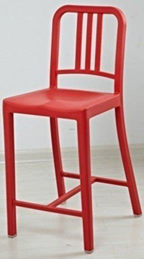 Ordinaire 2xhome   Classic Navy Chair   Bar Stool With Backrest   Single (1) Unit