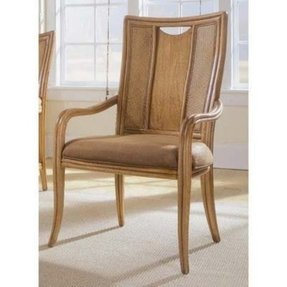 American Drew Antigua Splat Back Dining Arm Chairs - Set of 2 Multicolor - ADL4352
