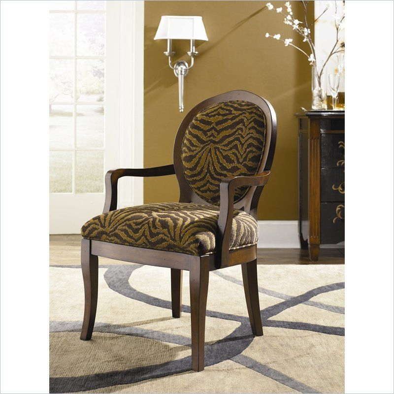 Merveilleux Chair By Hammary   Brown Zebra Design Chenille Fabric (T73716 00)
