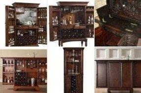 Cherry Wood Liquor Cabinet - Foter