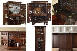 Attrayant Cherry Wood Liquor Cabinet