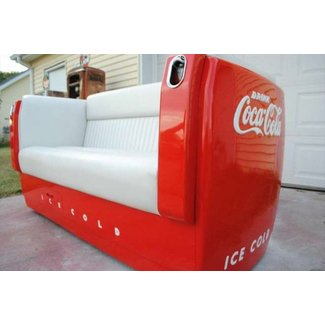 Coca cola craftsman built designer coke unique 1938 westinghouse sofa