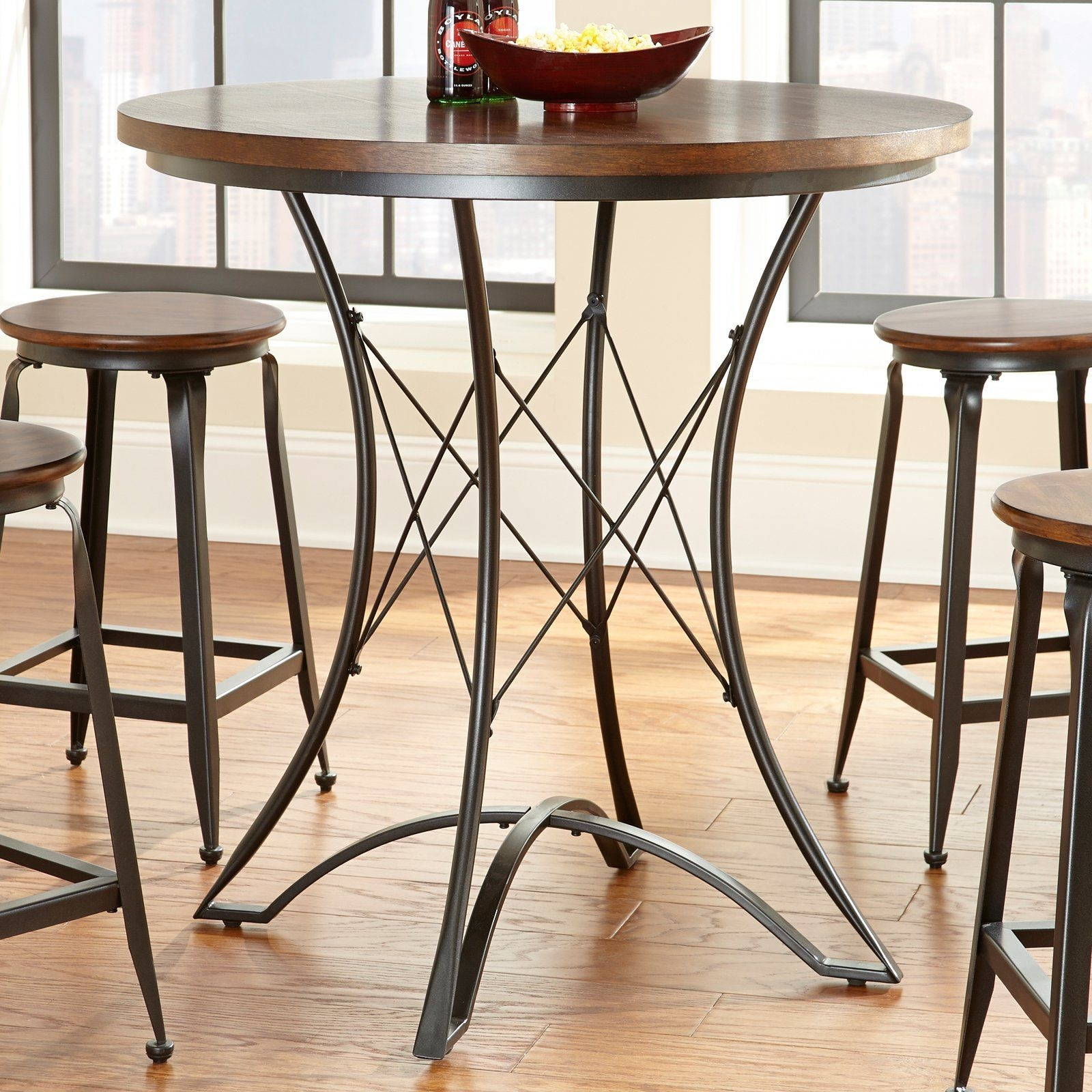 Round Bar Height Dining Table Ideas On Foter
