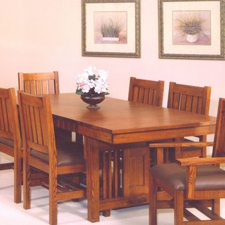 Fabulous Craftsman Style Dining Table Ideas On Foter Download Free Architecture Designs Grimeyleaguecom