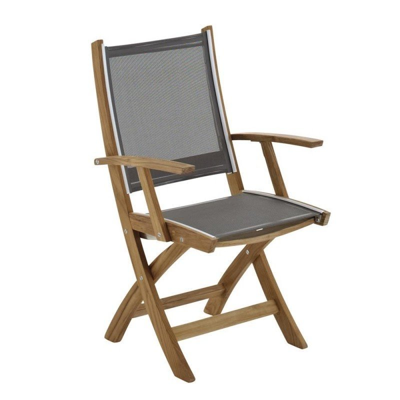 DC America SEC990, Sequoia Folding Arm Chair, Hardwood With Natural Finish