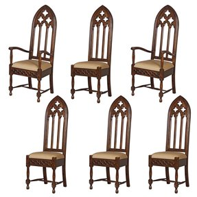Design Toscano AF951320 Viollet-Le-Duc Gothic Cathedral Chairs Set