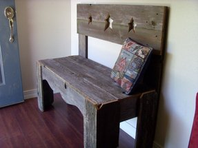 Farmhouse entry table rustic furniture