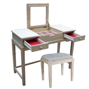 International concepts unfinished vanity table 1