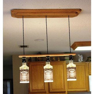 Jack daniels light fixture with three