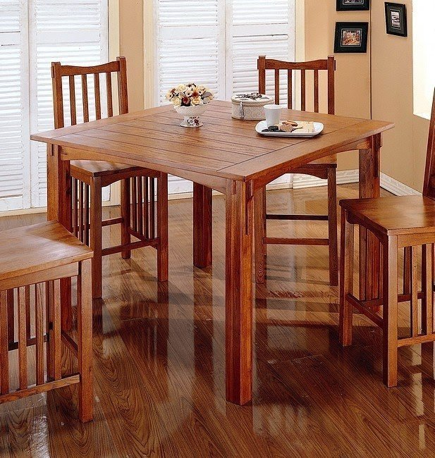 Mission dining chair 2 & Mission Oak Pub Table - Foter