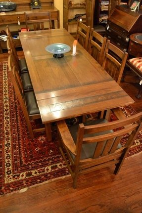 Mission oak dining table arts and crafts 1