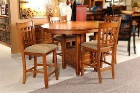 Mission oak pub table foter oak pub table set 3 watchthetrailerfo