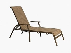 Panama Jack Island Breeze Stackable Sling Chaise Lounge, Espresso Finish