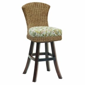 Plantation swivel bar stool 2
