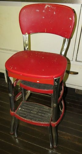 Retro Chair With Step Stool
