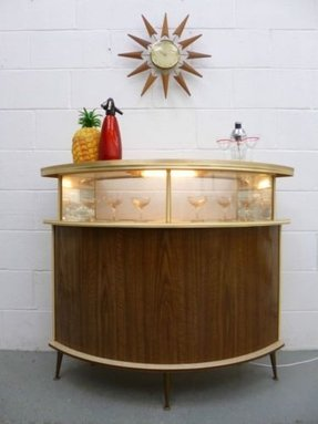 Retro home bar