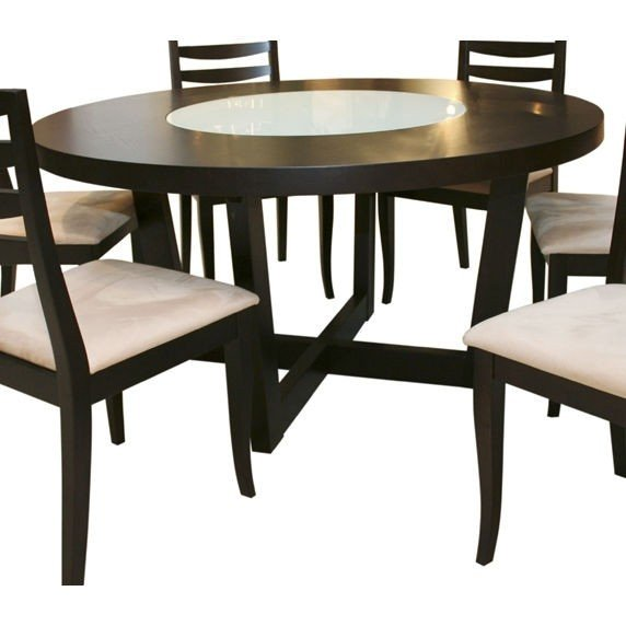 Round Dining Table With Built In Lazy Susan 1