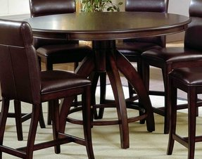 Round pub table set