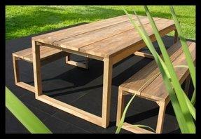 Rustic Teak Outdoor Furniture Foter - Teak deck table