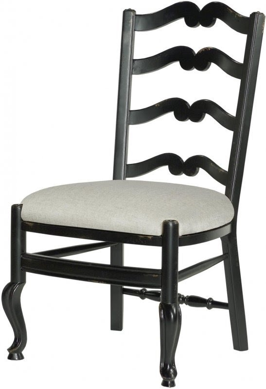 Set 6 New French Provincial Dining Chairs Ladderback Wood Beige Linen Fabric