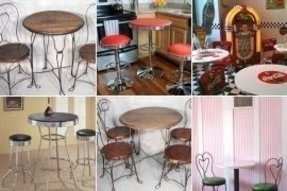 Soda shop tables