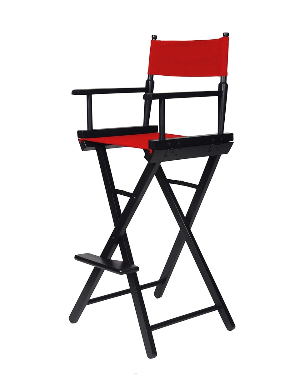 Perfect Trademark Innovations Counter Height Wooden Directoru0027s Chair, Black