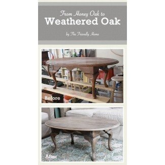 Weathered oak wood furniture 2