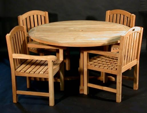 "60"" Padua Table with 4 Aquinah Chairs"