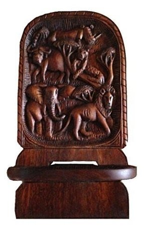 African Solid Wood Hand Carved Chair