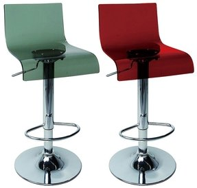 Luxury Red Acrylic Bar Stool