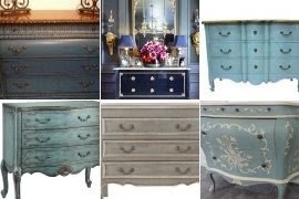 Blue bombay chest